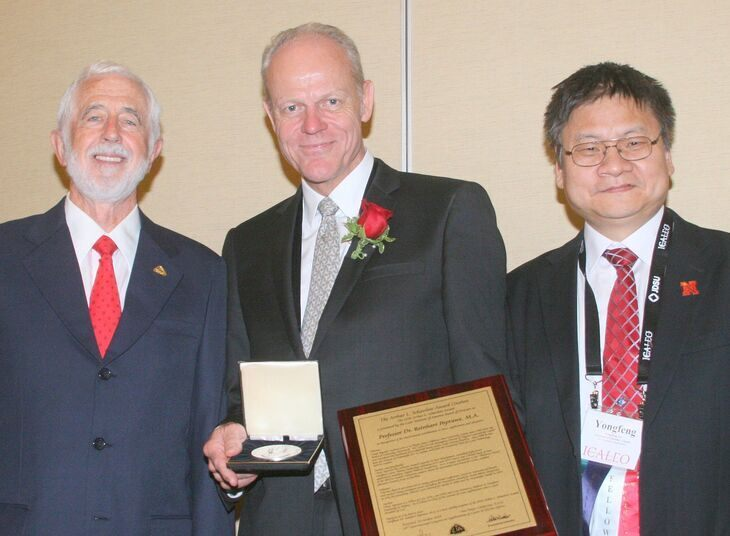Prof. Poprawe receives the 2014 Arthur L. Schawlow Award of the Laser Institute of America LIA