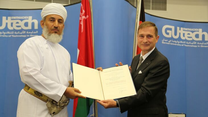 Sheikh Abdullah bin Mohammed Al Salmi received the Grand Cross of the Order of Merit of the Federal Republic of Germany