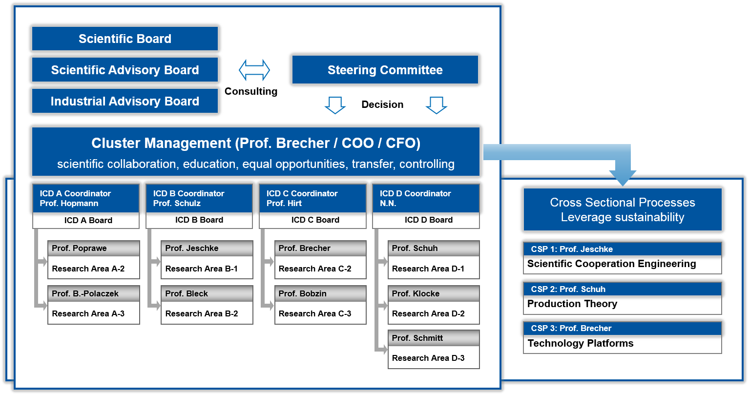 Organizational Chart of the Cluster of Excellence